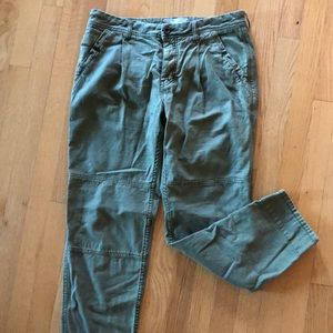 Free people pants. Olive green